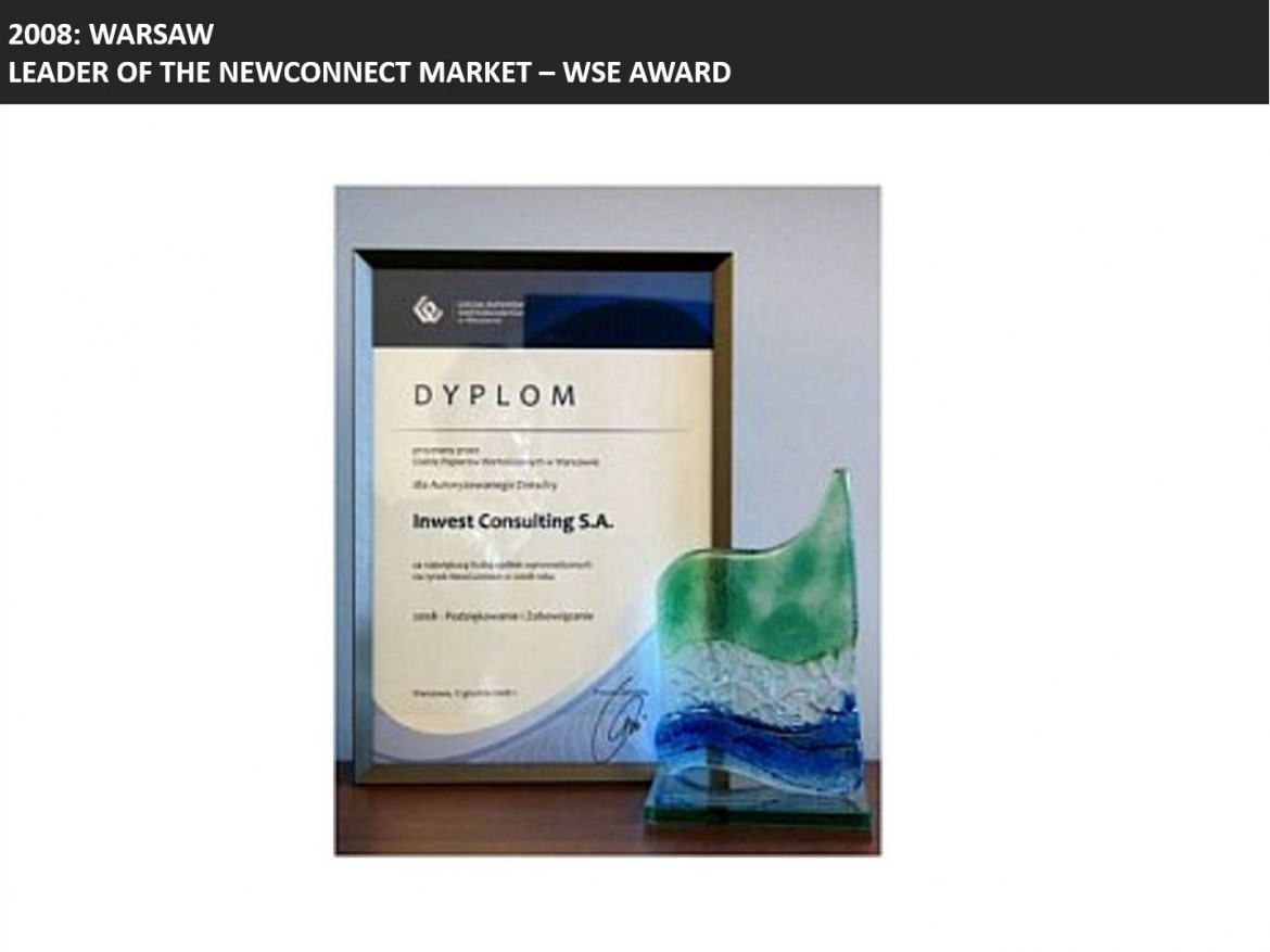 Leader of Newconnect award