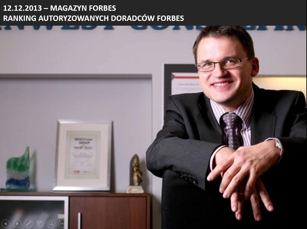 Paweł Śliwiński z nagrodą Forbes