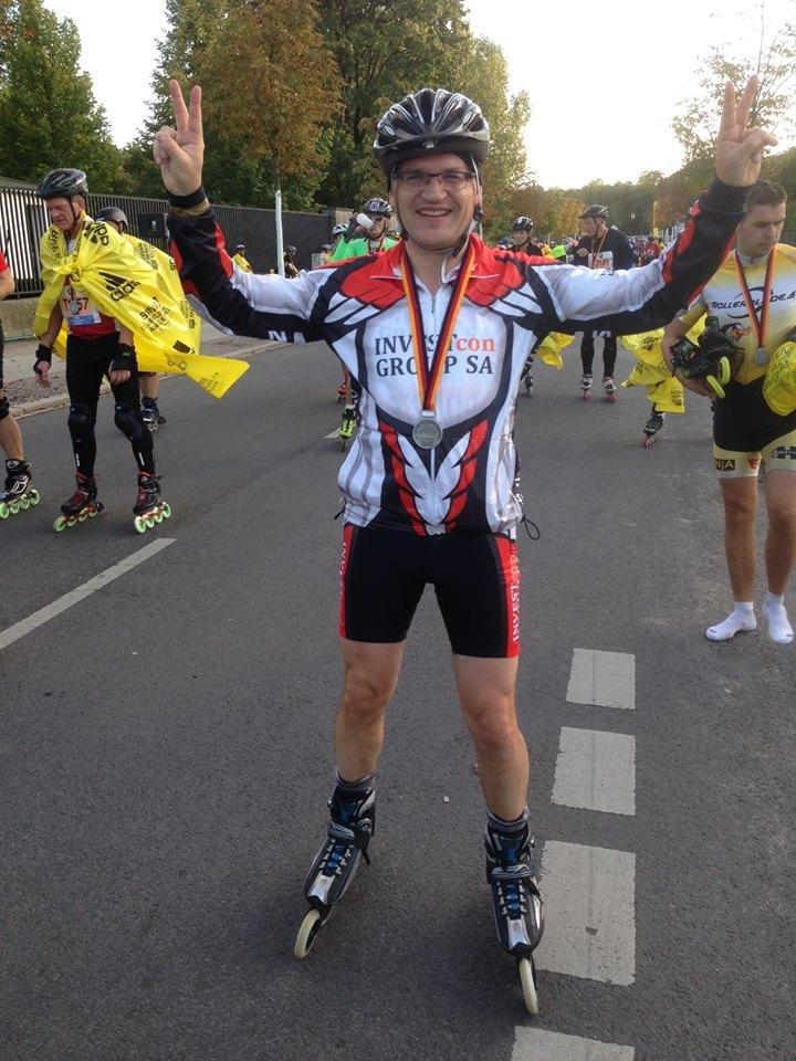 Paweł Śliwiński z życiowym rekordem w maratonie na rolkach