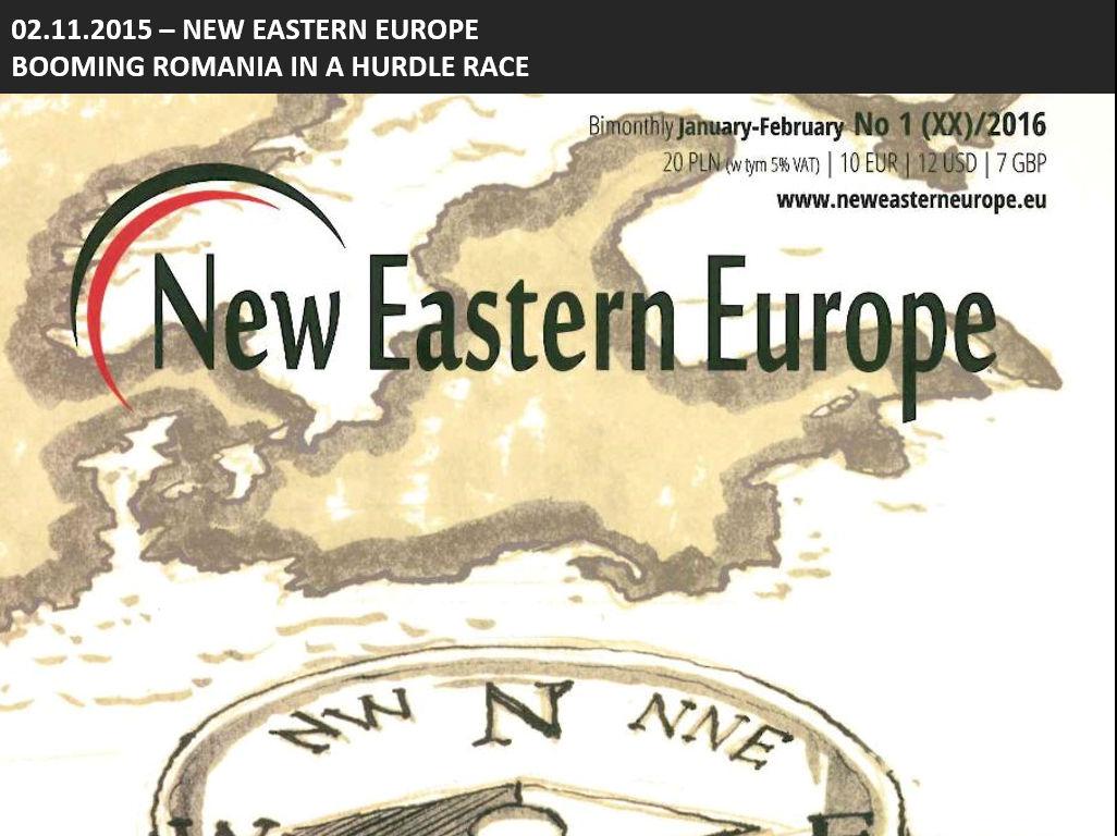 magazynu New Eastern Europe, anglojęzycznego dwumiesięcznika poświęconego tematyce Europy Środkowej i Wschodniej