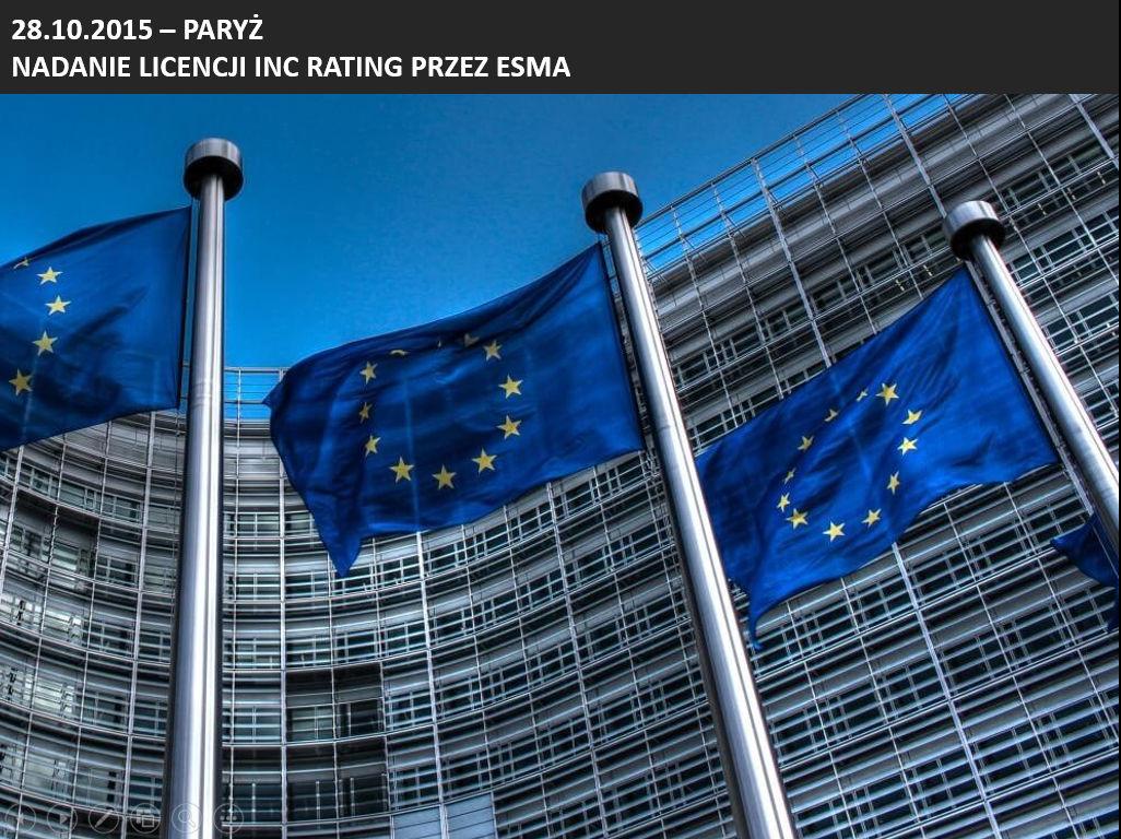 Nadanie licencji INC rating przez ESMA