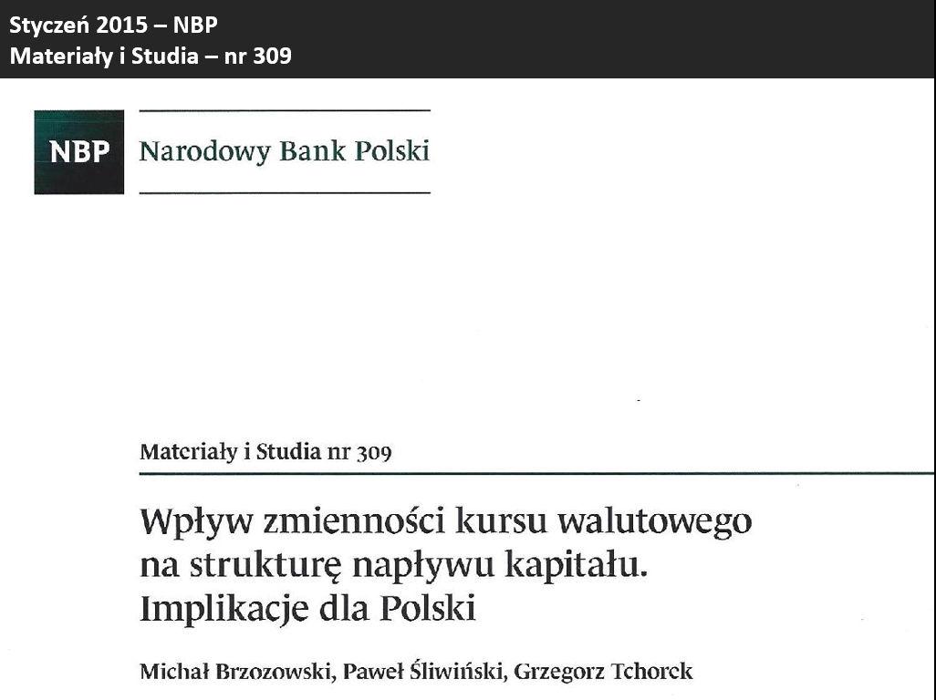 Wpływ zmienności kursu walutowego na strukturę napływu kapitału. Implikacje dla Polski.