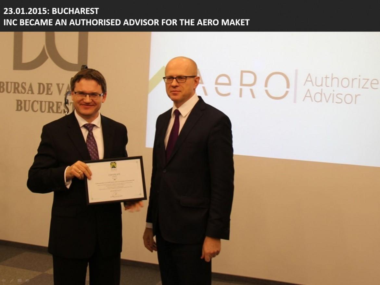 INC Became Authorised Advisor for the AeRO Market