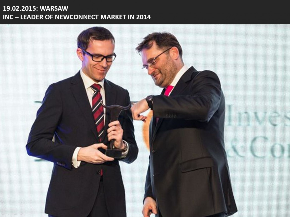 INC Leader of Newconnect Market 2014