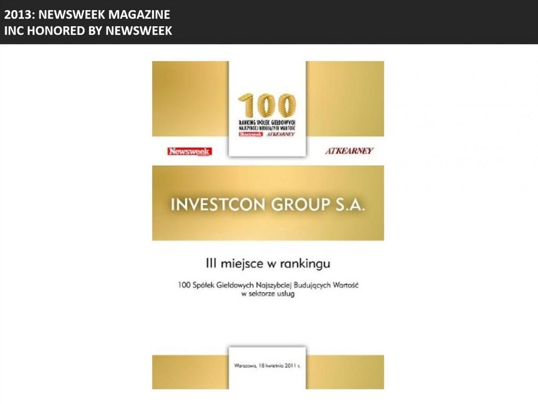 Newsweek honored INC